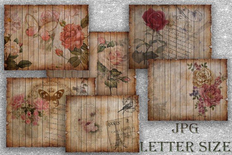 Digital Scrapbook Paper, Junk Journal Printable