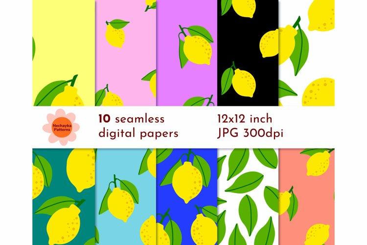 LEMON pattern SEAMLESS Lemon digital paper Lemon background