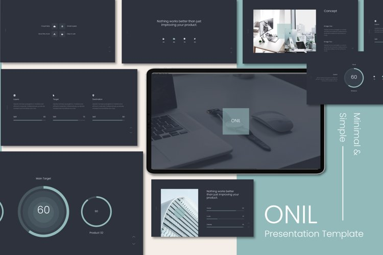 Onil Minimal & Simple Presentation Powerpoint