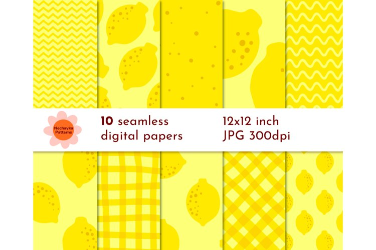 YELLOW pattern SEAMLESS Lemon digital paper Lemon paper