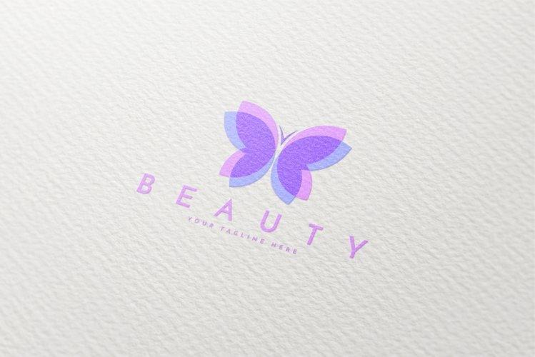 Flying Butterfly Logo Template