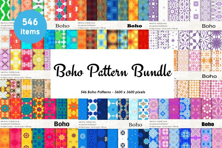 Boho Patterns Bundle, Boho Backgrounds