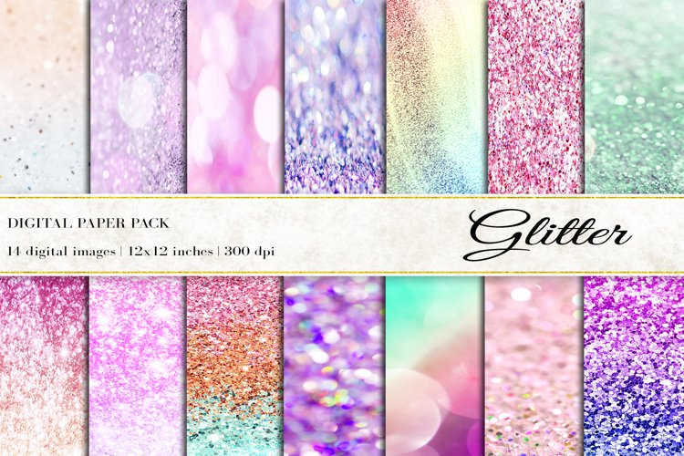 Glitter Digital Papers, Glitter Background