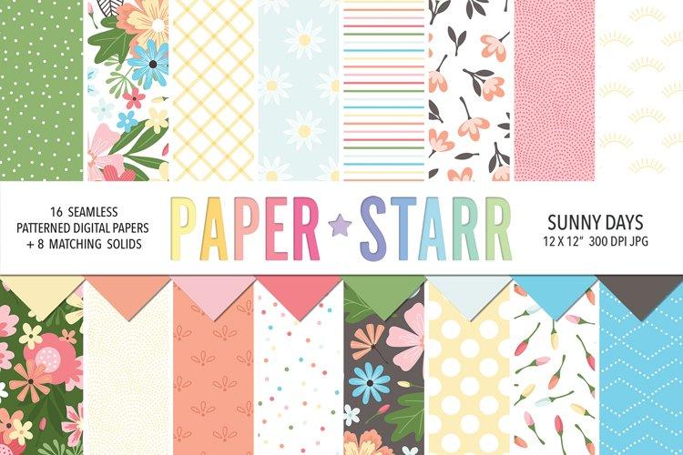 Summer Floral Digital Paper, Summer Floral Sublimation PNG