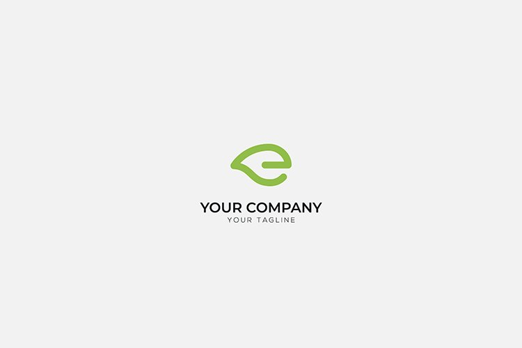 simple Easy e commerce logo with leave and life