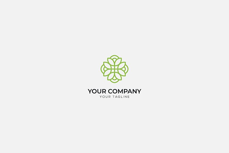 health cosmetic green minimalist line logo