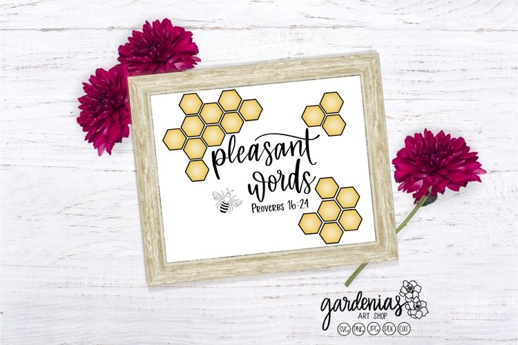 Proverbs 16 24 SVG | Religious Cut File | Honeycomb SVG