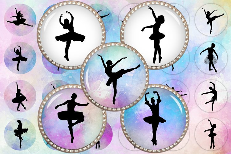 Ballerina Silhouettes,Ballet Printable,Silhouettes Images example image 1