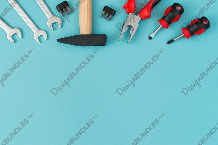 Tools. Fathers day concept.