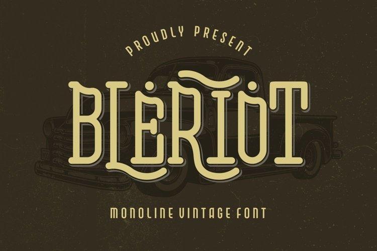 Bleriot - Monoline Vintage Font example image 1