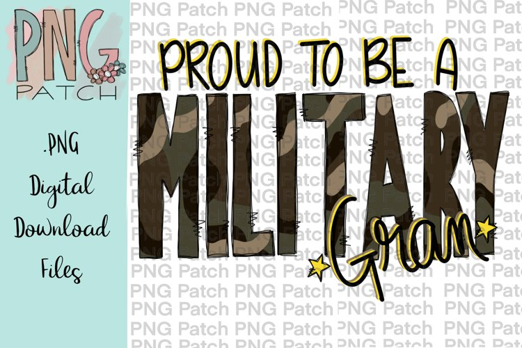 Proud to be a Military Gran, Military PNG Files example image 1