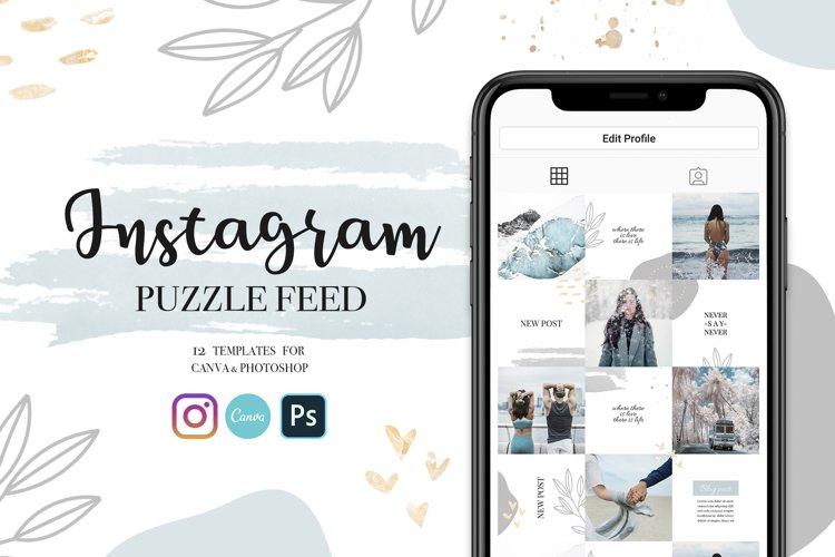 Instagram Puzzle Template | Customizable