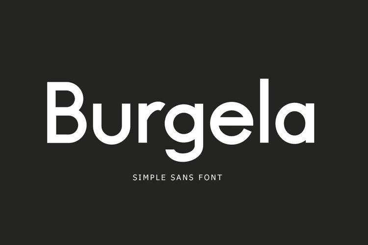 Burgela Simple Sans Font example image 1