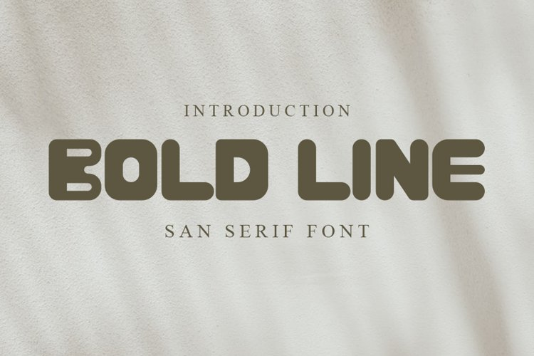 Bold Line | Unique Font example image 1