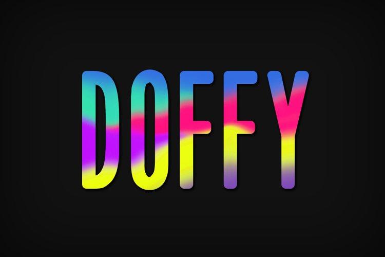 Doffy Font example image 1