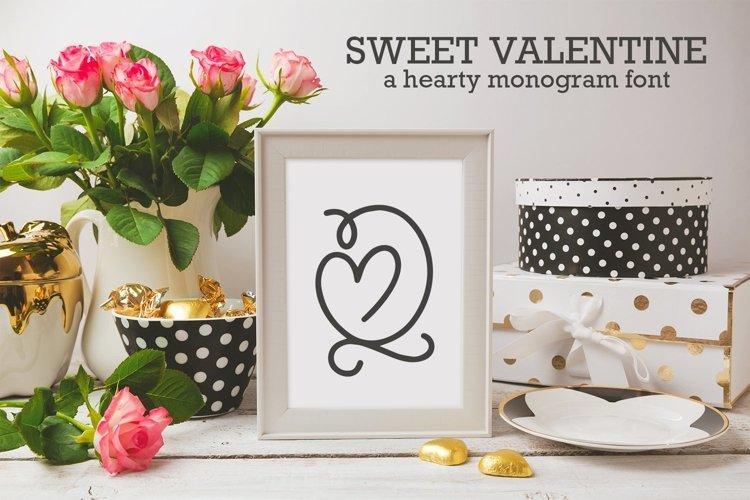 Web Font Sweet Valentine - A Monogram Font