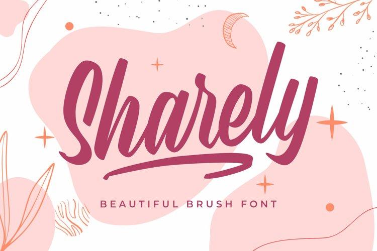 Sharely - Beautiful Brush Font example image 1
