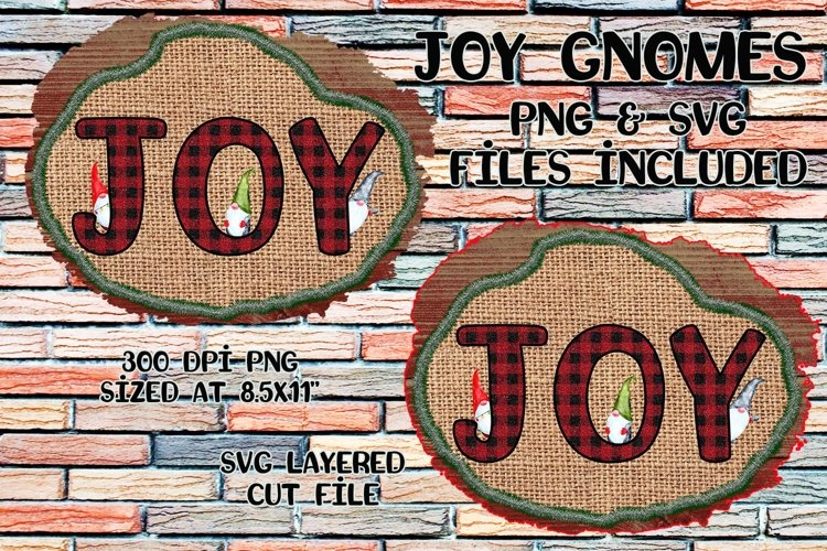 Joy Gnomes- PNG and SVG Included example image 1