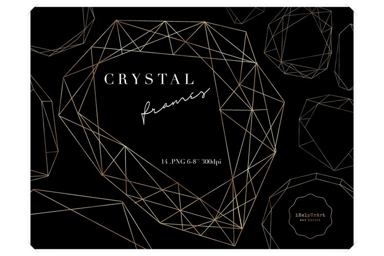 Crystal Frames - Polygonal Digital Frames Clipart