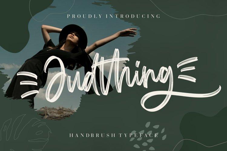 Judthing Handbrush Typeface example image 1