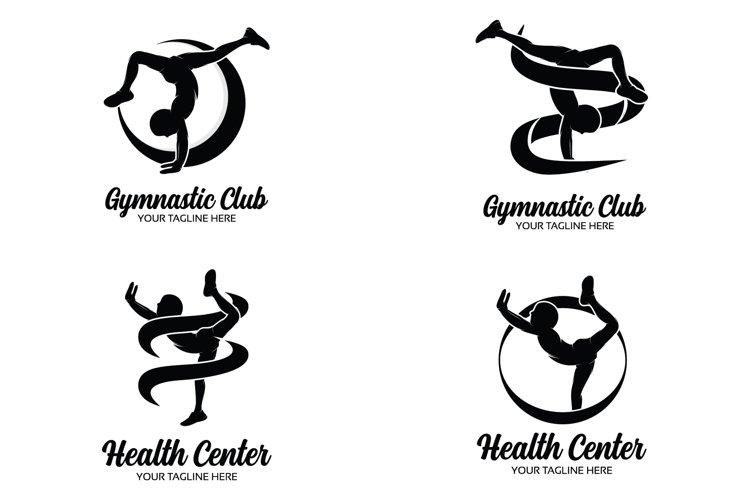 Set of gymnastics logo design templates example image 1