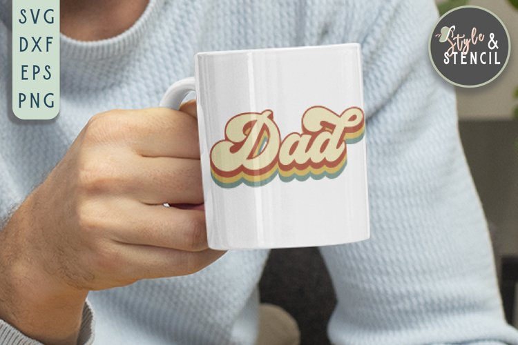 Dad SVG | Fathers Day | Retro example image 1