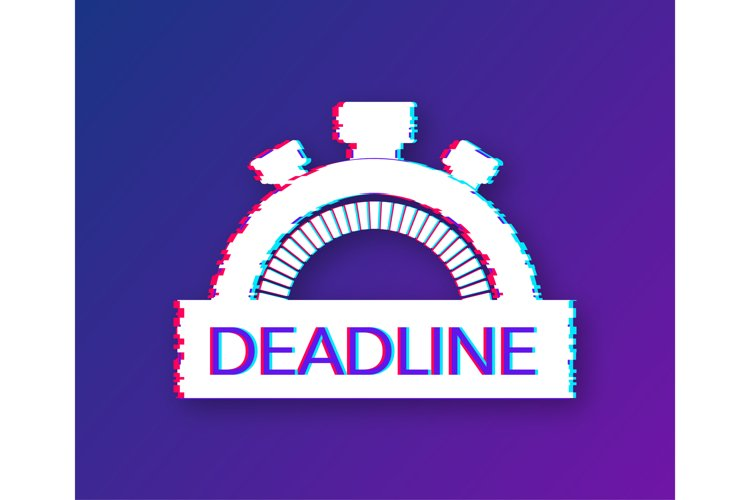 Dates and Deadlines icon. Glitch icon. Time icon. example image 1