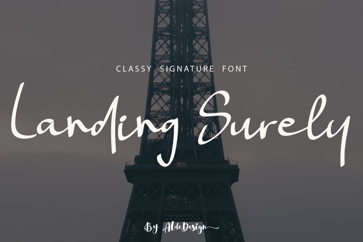 Landing Surely | Signature Font example image 1