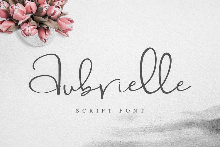 Aubrielle Script Font example image 1
