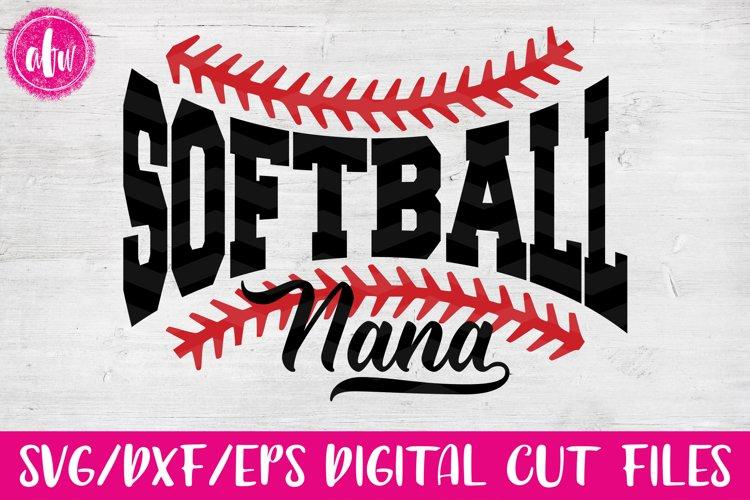 Softball Nana - SVG, DXF, EPS Cut Files example image 1
