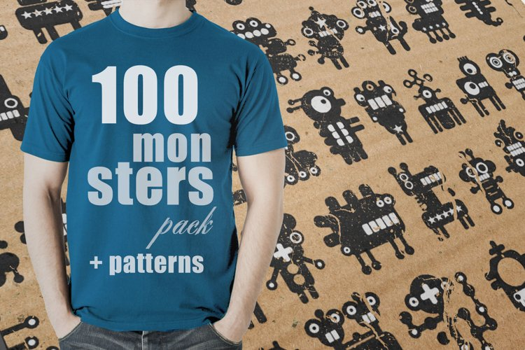 Set of 100 monsters