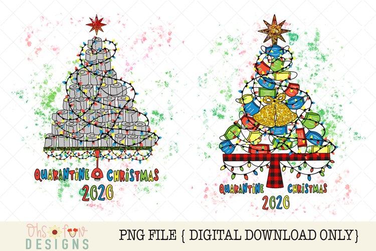 Sublimation quarantine Christmas tree, pandemic Christmas