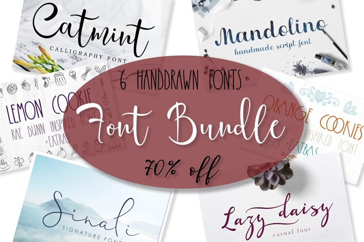 Font bundle - 6 handwritten and calligraphy fonts example image 1