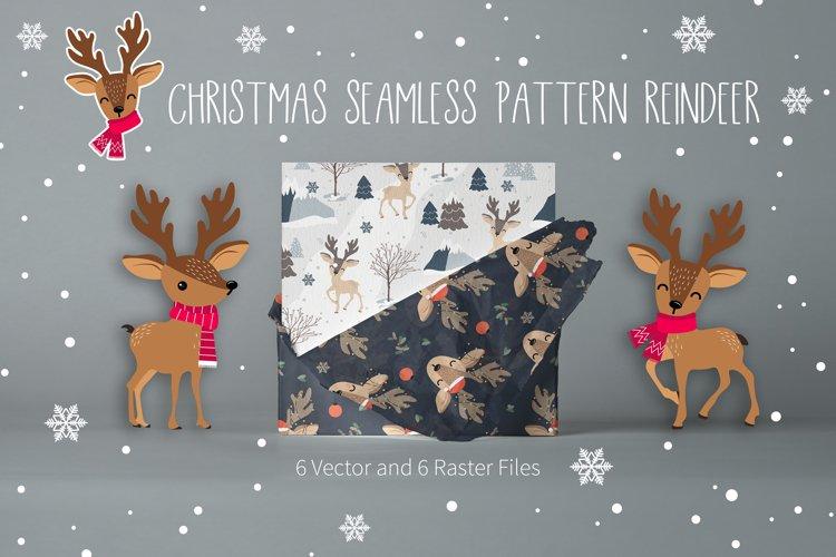 Christmas Seamless Pattern Reindeer example image 1