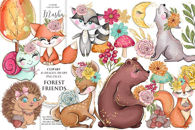 FOREST FRIENDS Clipart