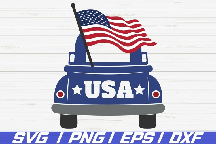 4th of July Truck SVG / America SVG / Cut File / 4th Of July