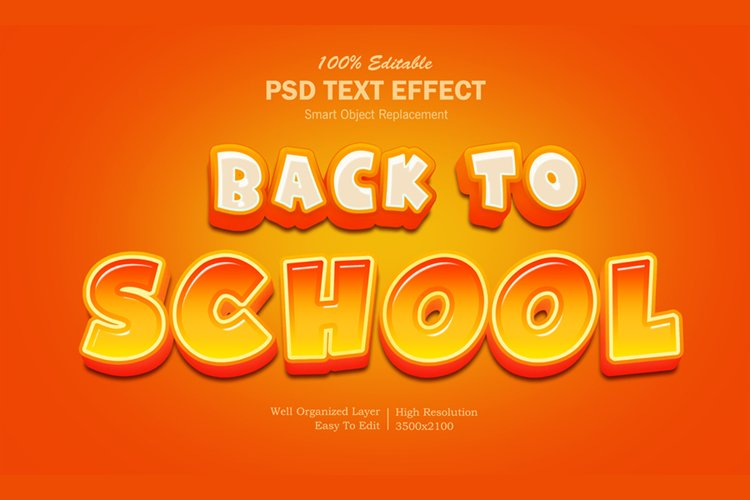 Back To School Text Effect example image 1