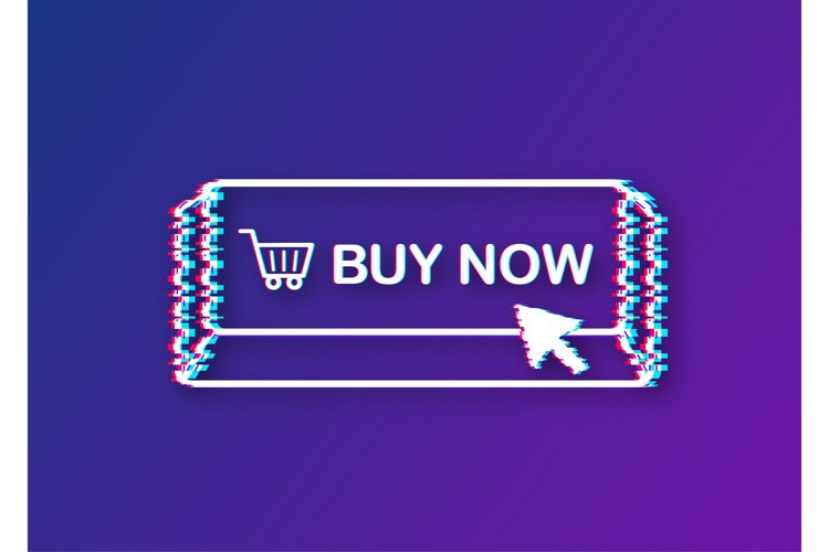 Buy now glitch icon. Shopping Cart icon. example image 1