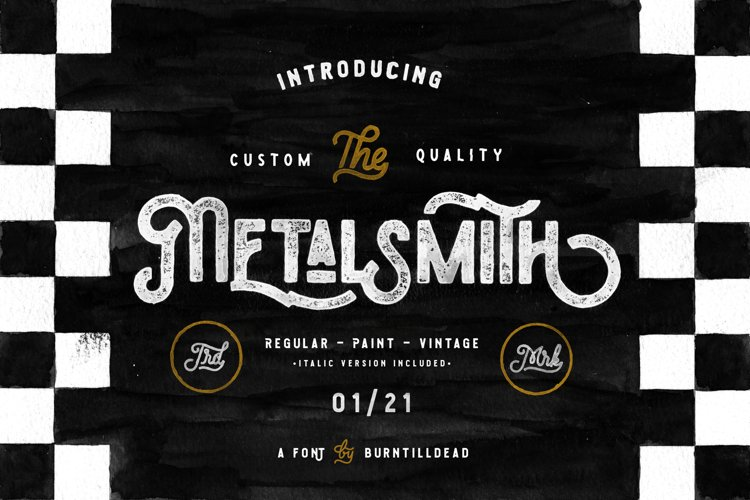 Metalsmith - Custom Culture Typeface example image 1
