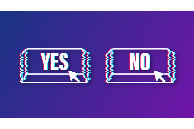 Yes and No button. Feedback concept. Positive feedback example image 1