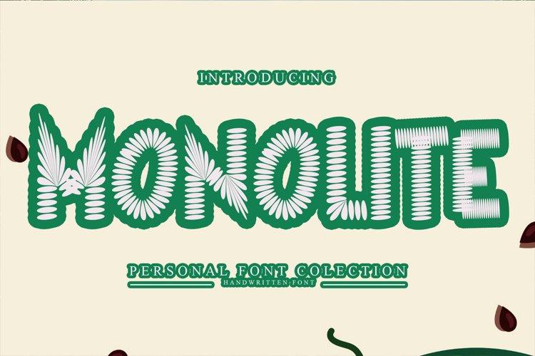 Monolite - Display Monster example image 1