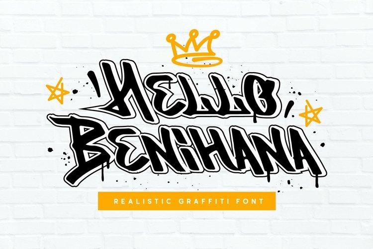 Web Font Benihana example image 1