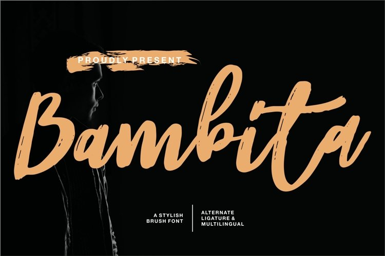 Bambita - A Stylish Brush Font