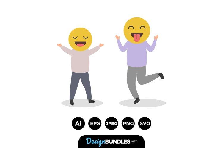 Emoji People Illustrations example image 1