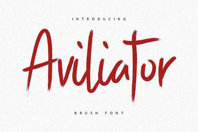 Aviliator Brush Font example image 1