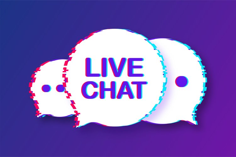 Live chat, great design for any purposes. example image 1