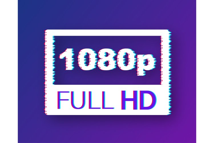 Video dimension label. Video resolution 1080 badge. example image 1