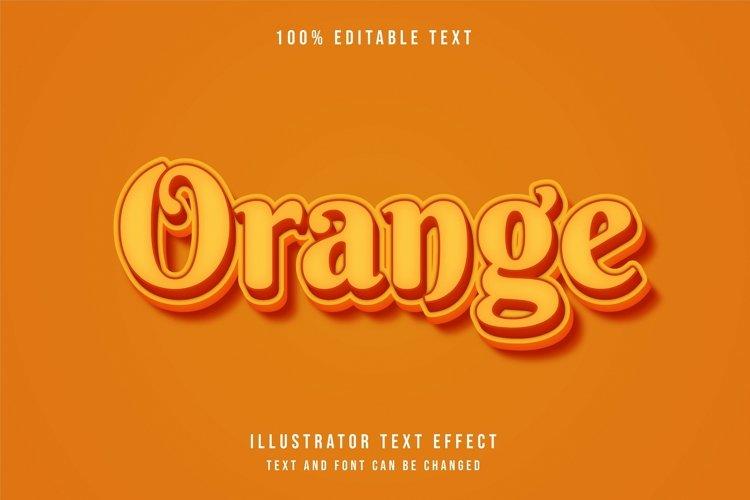 Orange - Text Effect