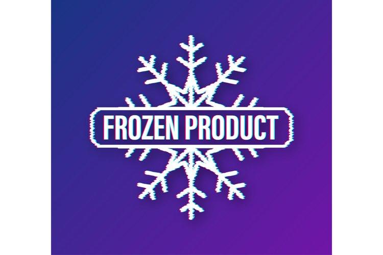 Blue frozen product on white background. Food logo. example image 1