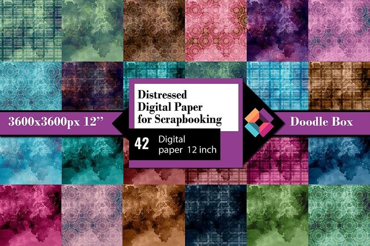 Distressed Digital Paper for Scrapbooking example